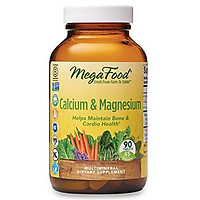 MegaFood, Calcium & Magnesium, Helps Maintain Bone and Cardiovascular Health, Vitamin and Dietary Supplement, Gluten Free, Vegan, 90 tablets (45 servings)