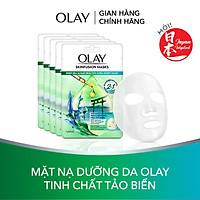 Combo 5 mặt nạ giấy sáng da tinh chất tảo biển Olay Skinfusion Mask Tinh Chất Tảo Biển
