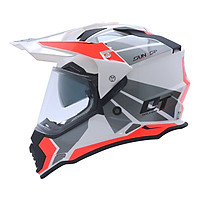 Mũ Bảo Hiểm Fullface Off Road YOHE 632A 8# Glossy White/Fluo Red