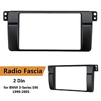 Car Stereo Radio Fascia Panel Plate Frame 2 Din for BMW 3-Series E46 1998-2005