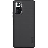 Ốp lưng cho Xiaomi Redmi Note 10 Pro 4G , Redmi Note 10 Pro Max Nillkin dạng sần đen - Hàng nhập khẩu