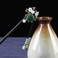 Trâm cài tóc nữ cổ trang lục lưỡng hoa phong cách cổ trang Trung Quốc