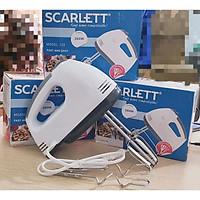 Máy đánh trứng nhào bột đánh kem Scarlett SL-133 kèm 2 que nhào bột công suất 260W với 7 tốc độ nhanh chậm- Hàng chính hãng