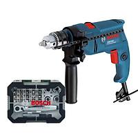 Máy khoan động lực Bosch GSB 550 + Bộ vặn vít Bosch 26 món