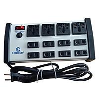 Ổ cắm 4 cửa đa năng 8 cửa đơn Ominsu có Aptomat chịu tải 2000W cao cấp