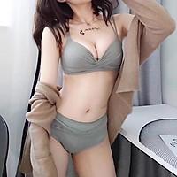 Bộ đồ lót nữ dễ thương nâng ngực - Áo ngực nữ đẹp không gọng sexy màu hồng, đen, xanh