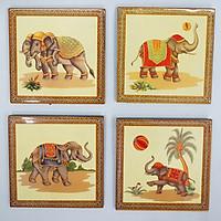 Bộ tranh sơn mài Con voi