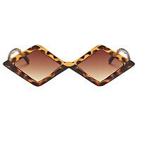 Vintage Anti-UV Rhombus Sunglasses Shades Plastic Frame Glasses Eyewear