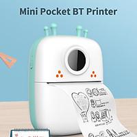 Máy in bỏ túi mini cầm tay Máy in nhiệt không dây BT Máy in ảnh Ghi chú lỗi Máy in nhiệt có 1 cuộn giấy