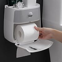 Hộp đựng giấy vệ sinh 2 ngăn cao cấp treo tường