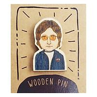 Huy Hiệu Cài Áo Gỗ John Lennon PS021