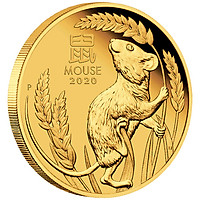 Xu Hình Con Chuột Úc Màu vàng có đường kính 40mm và được thiết kế rãnh răng cưa chắc chắn và tinh xảo - Tặng kèm hộp đựng xu bằng nhung Cao Cấp - Quà tặng Chúc Mừng Năm Canh Tý 2020 - TMT Collection - MS 269