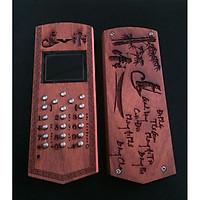Vỏ gỗ cho điện thoại Nokia 1280 mẫu Cha Mẹ