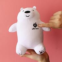 Thú Bông Gấu We Bare Bears Yêu Con TC Làm Quà Tặng Cho Bé Đầy Ý Nghĩa - NHÓC (Màu Sắc: Trắng - Size: 20cm)