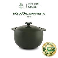 Nồi sứ dưỡng sinh Minh Long Vesta 3.5L + nắp dùng cho bếp gas, bếp hồng ngoại