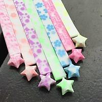 Bộ 100 Miếng Giấy Gấp Sao 5 Màu Folding Wishing Star Origami
