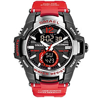SMAEL Outdoor Sports Waterproof and Shockproof Electronic Watch Women's Student Sports Watch Couple Watch 1805