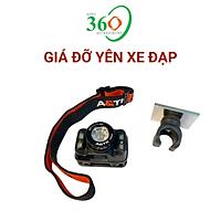 Giá Đỡ Đèn Pin Xe Đạp Dành Cho Đèn Pin Đội Đầu HNK-003, Có 3 Lựa Chọn Gắn Trên Ghi Đông, Trên Cổ Yên Xe Và Giá Đỡ Nam Châm