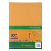 Xấp 10 Bao Hồ Sơ 555 - 5206 - Màu Vàng - Lột Dán (25.6 x 35.6cm)
