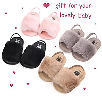 Elastic Band PU Baby Soft-soled Summer Shoes Cute Infant Baby Sandals Slippers Gift for 0-1 Year Old