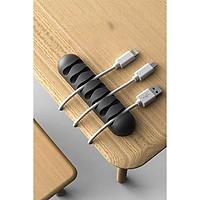 [Phụ kiện giữ dây cáp sạc] cố định dây cáp sạc cho các thiết bị điện tử trên bàn làm việc - Hàng Chính Hãng