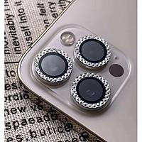 Bộ 3 Vòng Kim Cương Bảo Vệ Camera Dành Cho iPhone 12Pro - 12Pro Max - Chống Bụi, Hạn chế vân tay & Mờ Camera - Phay Kim Cương Cực XỊn Xò
