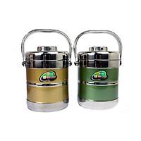 Cặp Lồng Inox Giữ Nhiệt 3 Ngăn Inox 1.4L Kiểu Dáng Hàn Quốc