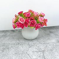 Hoa Giả Chậu Hồng Mini Size