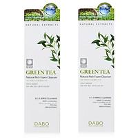 Bộ 2 sữa rửa mặt dành cho nam chiết xuất trà xanh GREEN TEA DABO hàn quốc ( 60ml) - HÀNG CHÍNH HÃNG