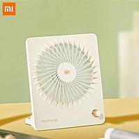 Xiaomi Ecological Chain Portable Desktop Fan Lightweight Mini Mute Fan Handheld Cooler Summer Fan Rechargeable Foldable Fan Hanging Fan With Holder For Office Outdoor Travel