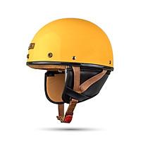 Mũ Bảo hiểm nửa đầu Bulldog Pug đủ màu - Yellow
