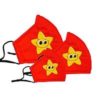 Khẩu trang Kissy cờ đỏ sao vàng - Tự hào Việt Nam -  Giao chuẩn mẫu, chuẩn size cho bé từ 4- 10 tuổi size S
