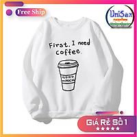 Áo Khoác Sweater Nỉ Nữ In Hình Café Free Size 70kg AK108 3 Màu Áo Khoác Nỉ Nữ