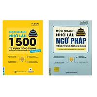 Combo Học Nhanh Nhớ Lâu 1500 Từ Vựng Tiếng Trung Thông Dụng + Học nhanh nhớ lâu ngữ pháp tiếng trung thông dụng Kèm sổ tay