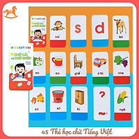 Thẻ chữ cái tiếng việt - Bộ 42 flashcard chữ cái và chữ ghép tiếng việt cho bé