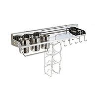Giá kệ treo đồ nha bếp đa năng tiện dụng inox 304 - 60cm