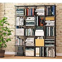 Tủ kệ sách 20 ô,  kệ lưới sắt lắp ghép sơn tĩnh điện, kệ chứa mọi vật dụng trong nhà và văn phòng, nội thất phòng làm việc, phòng khách, phòng ngủ