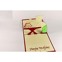 Thiệp 3D Sinh nhật - Sinh nhật bé trai thổi nến - NV21