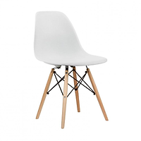 Ghế nhựa thiết kế Vintage chân gỗ GXG015 (trắng)