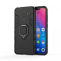 Ốp Lưng Cho Xiaomi Pocophone F1 iRON - MAN IRING Nhựa PC Cứng Viền Dẻo Chống Sốc