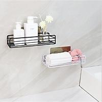 Giá để đồ nhà tắm kim loại bền đẹp, kệ hình chữ nhật đựng đồ đa năngkhông cần khoan tường siêu tiện dụng - giao màu ngẫu nhiên
