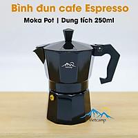 Bình đun cafe Espresso siêu tốc Moka Pot - 250ml - màu đen