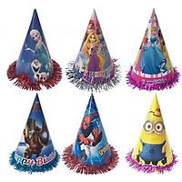 Combo 6 mũ sinh nhật (3 mẫu bé trai + 3 mẫu bé gái) cỡ nhỏ