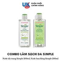 Combo Simple Làm Sạch Nước Tẩy Trang + Nước Hoa Hồng