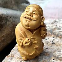 ượng Lão Phú Gia 7cm bằng gỗ Hoàng Dương