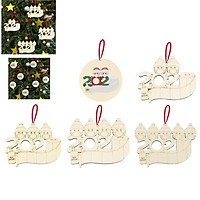 DIY Blessing Wooden Pendant Mask Snowman Christmas Tree Hanging Decoration