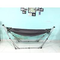 Bộ võng xếp BAN MAI: Khung võng inox VIP và Võng vải bố (Canvas) màu xám
