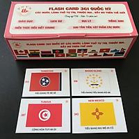 Bộ flash card 361 lá cờ quốc kỳ của các quốc gia và vùng lãnh thổ, có song ngữ Việt - Anh - SP002399