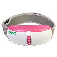 Đai massage bụng pin sạc rung lắc hồng ngoại Nhật Bản Nikio NK-169DC - Màu hồng