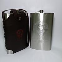 Bình Rượu INOX Logo CCCP Dập Nổi 2L( 48oz) - Tặng Kèm Phễu INOX